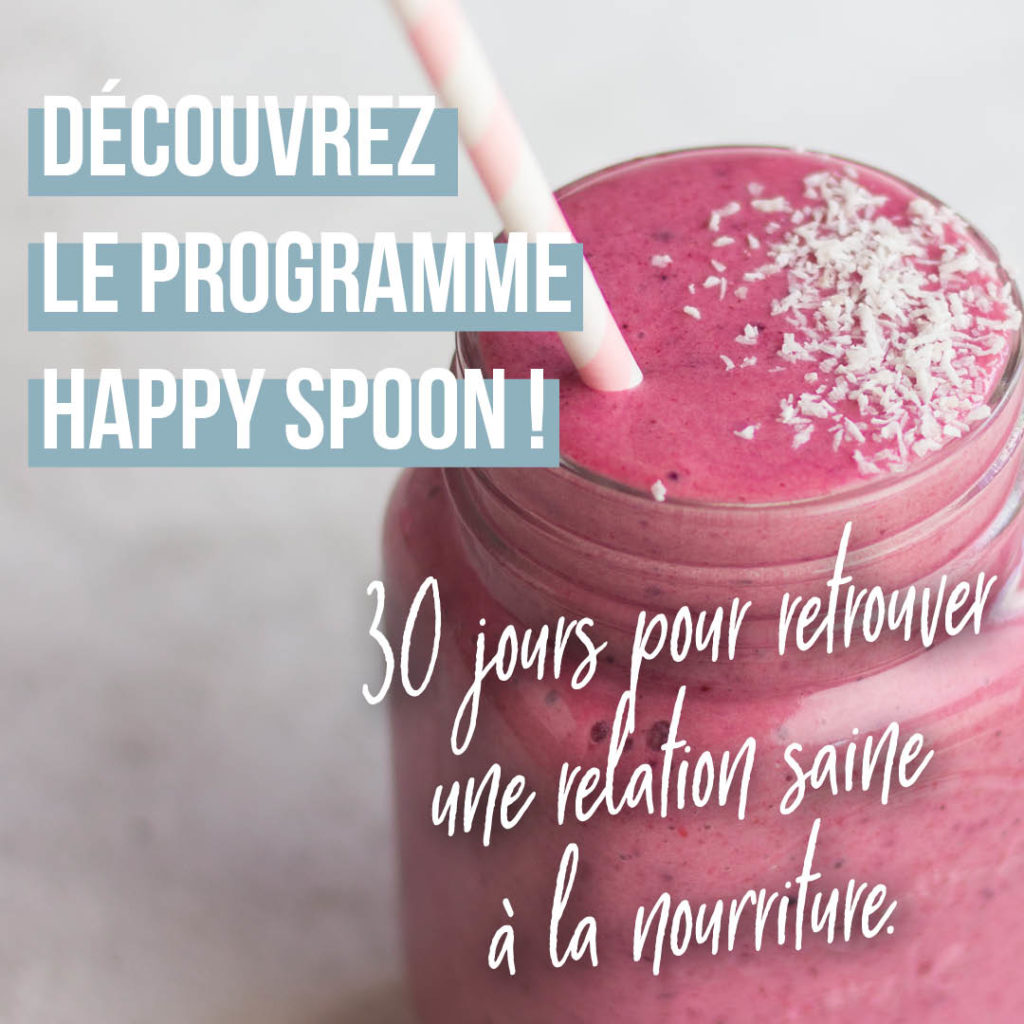 relation saine à la nourriture happy spoon programme